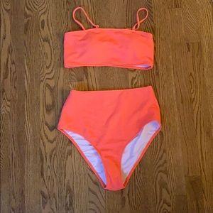 Cupshe Neon Pink Bikini Set